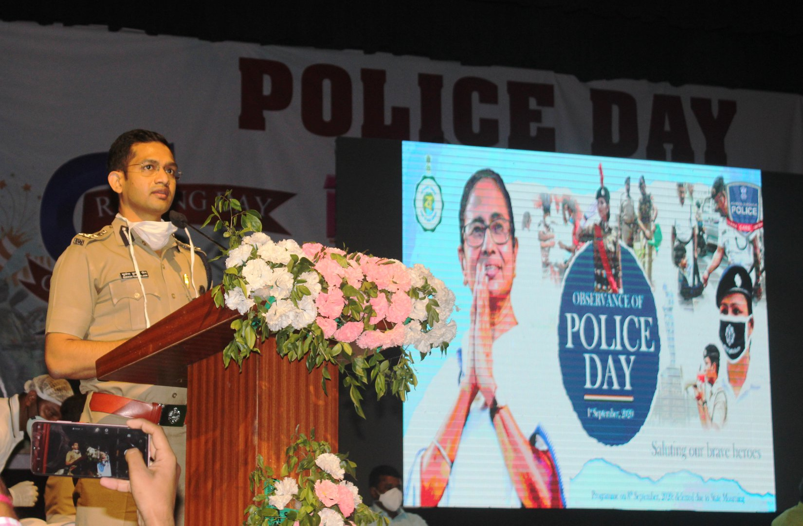Celebration of Police Day at Rabindra Bhawan, Asansol
