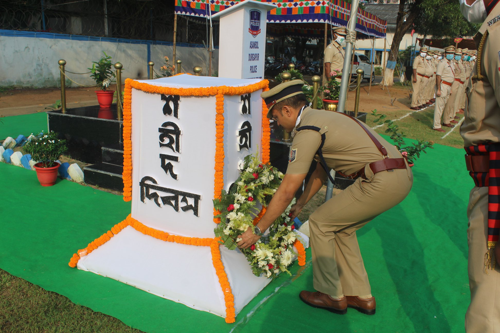 Commemoration Day Parade at Asansol Police on 21st Oct 2020