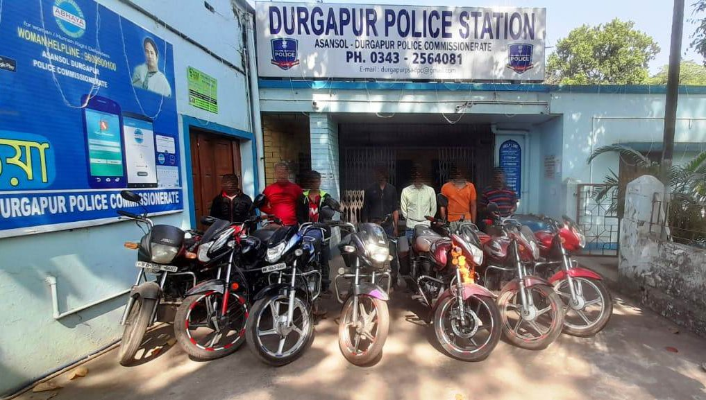 Huge number of Motor Cycle recovered by Durgapur PS
