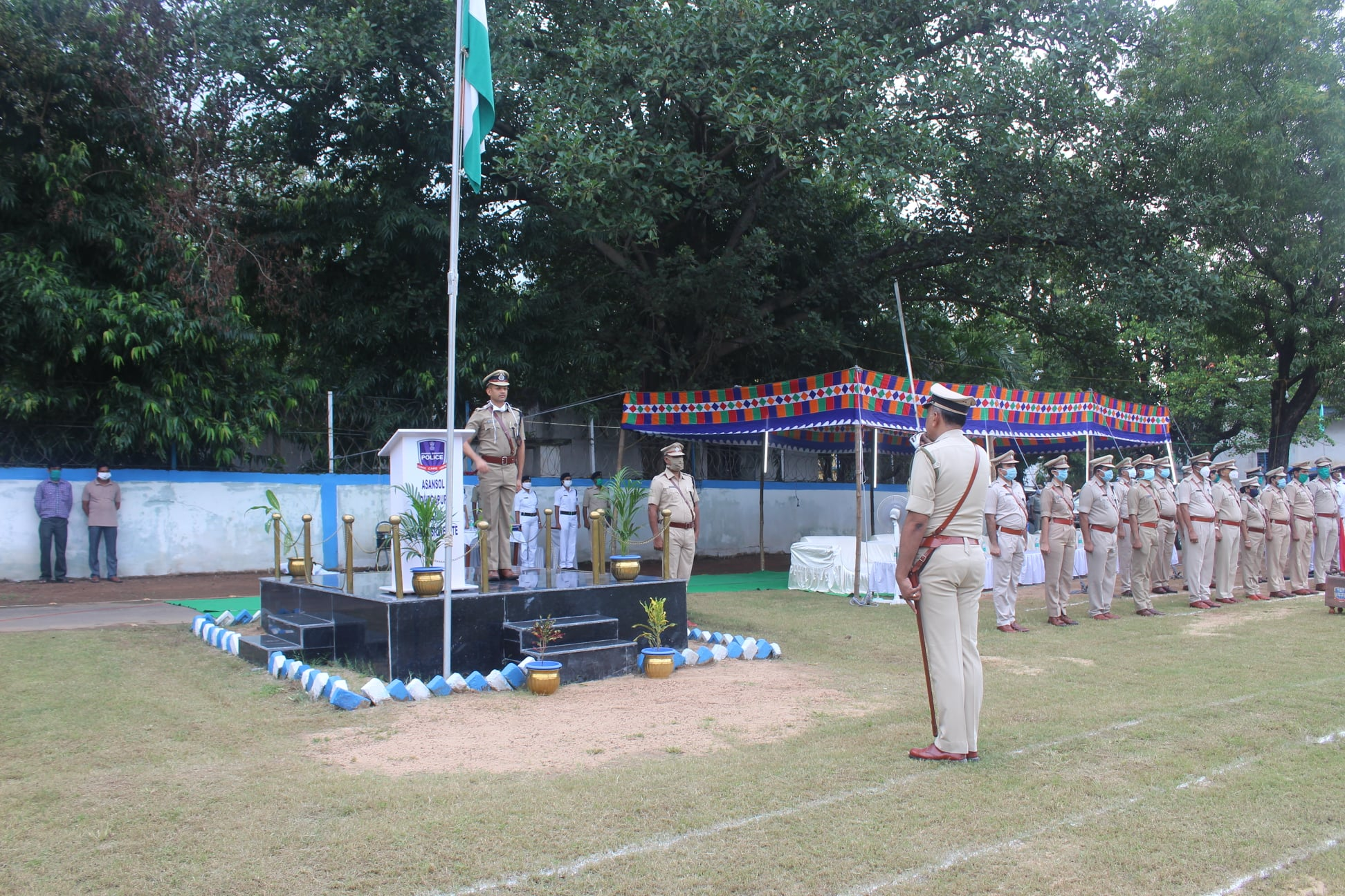 Muster Parade and Investiture Ceremony on 09.10.2020