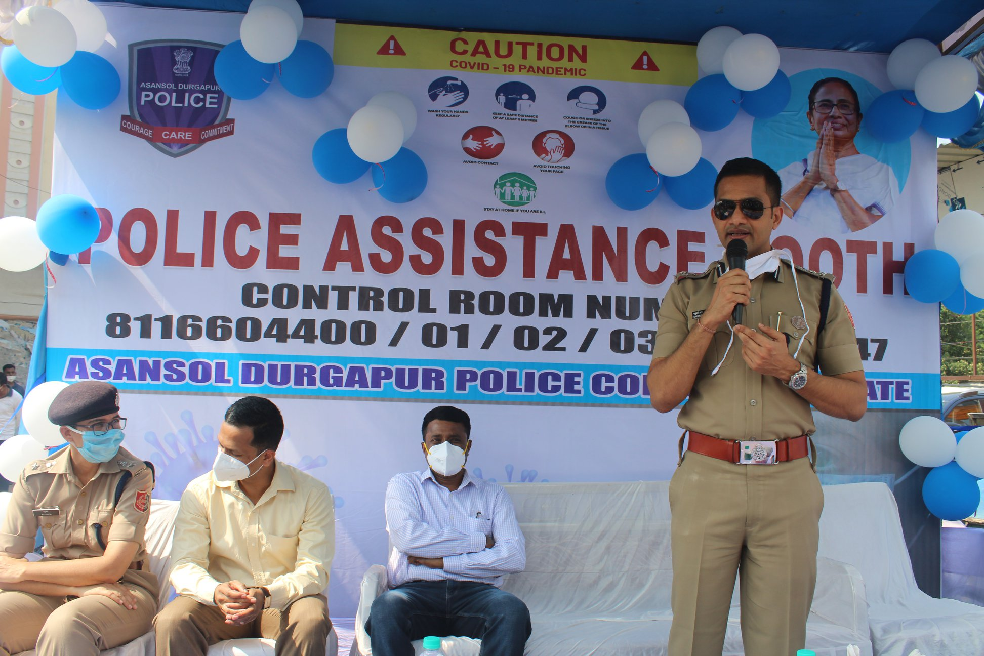 Police Assistance Booth opening for Durgapuja Festival 2020