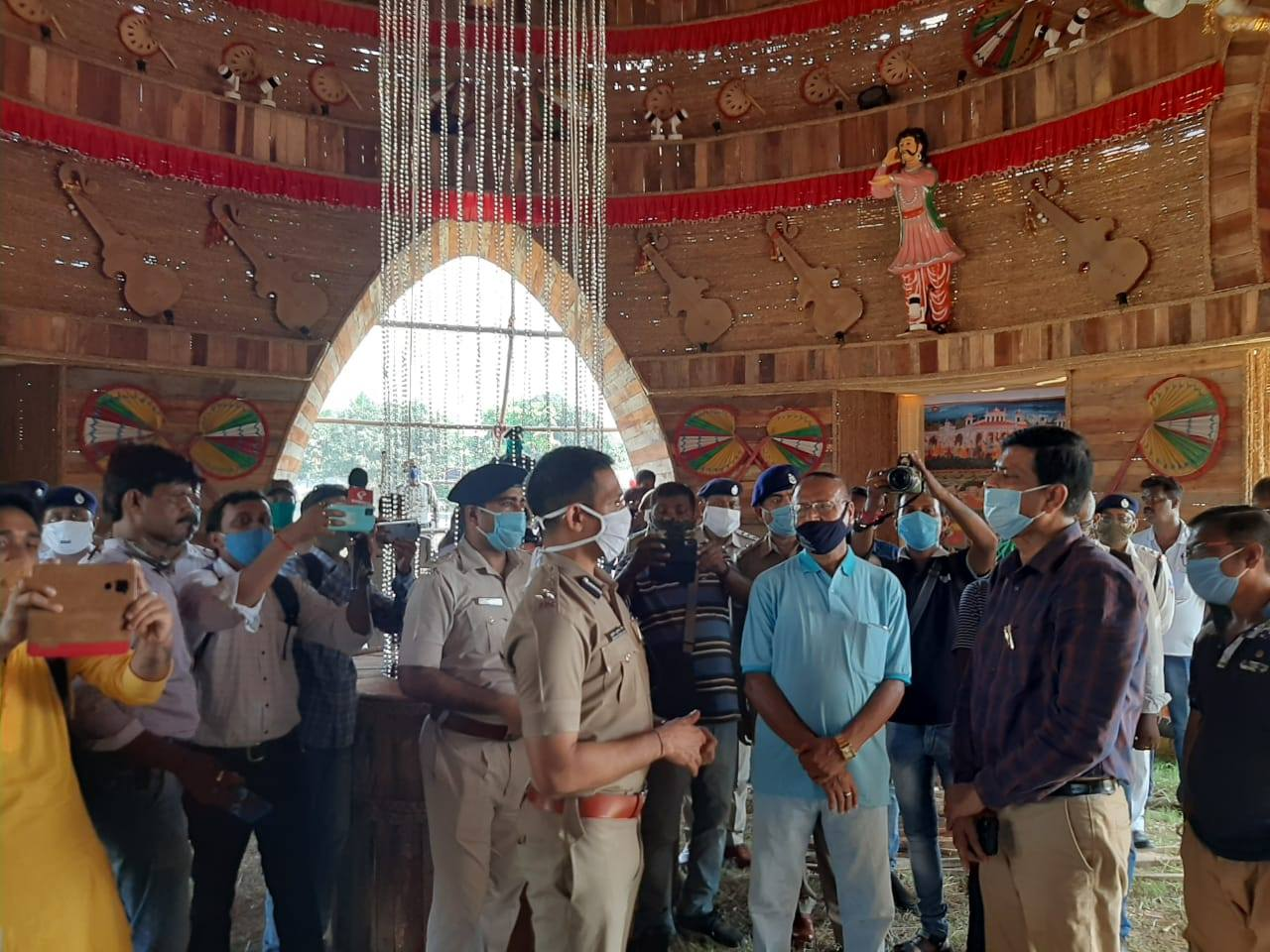 Puja Pandals visited by CP ADPC
