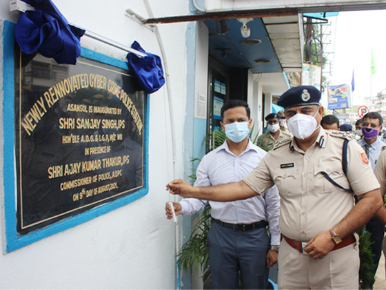 On 09.08.2021 Newly Rennovated Cyber Crime Police Station, Asansol is virtually inaugurated by Shri Sanjay Singh, IPS Hon'ble ADG & IGP, Western Zone, West Bengal in presence of Shri Ajay Kumar Thakur, IPS Commissioner of Police, ADPC and other Superior Officers and other dignitaries.