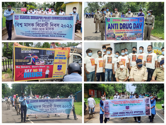 International Day Against Drug Abuse and Illicit Trafficking observed by different PSs of Asansol Durgapur Police on 26.06.21.