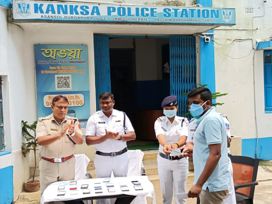19 nos of Lost recovered Mobile Phones handed over to its owner by Kanksa PS On 15.08.2021.
