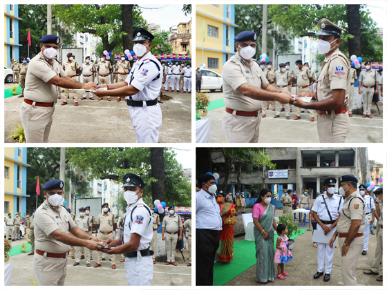 On 09.08.21 Investiture Ceremony was held at Asansol Police Lines, Ld. CP, ADPC Shri Ajay Kumar Thakur, IPS was distributed